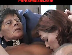 Blonde Granny gangbanged and pussy rogered
