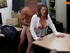 Busty nymph gives a fuck on camera