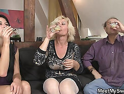 Busty mom riding cock and fucked