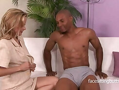 Cougar with a craving for black cock