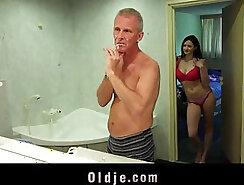 Beautiful Big breasted Teens Take the Bathroom