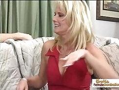 Classy tattooed stepmom banged after sucking cock