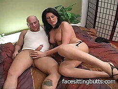 very hot MILF licking pussy and getting fucked on the bed to answer her questions