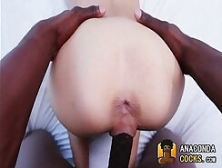 Alluring girl Stella Lovey gets her pussy stretched by a big dong