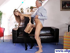 Athletic big-booty euro is used by FFM guy