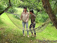 Aiden Lee and Kathy Anderson Lesbian Pissing