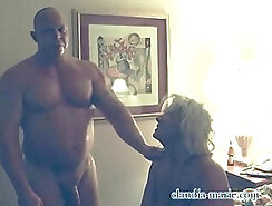 Amateur bang in front of both men and female prostitute
