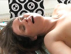 Brunette milf tasting cock cums on her mom JOI