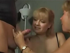 Black German MILF giving a head during house party