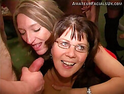 Amateur BF roped and facialized after party