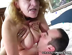 BBW Granny and Her Friend Sharing a Cock