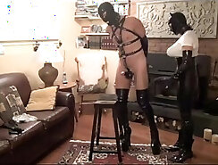 Slick slave with strapon - Lord Perious