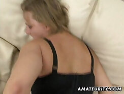 Chubby MILF Adria Rae taking dick in her wet pussy for facial
