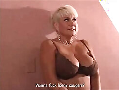 Beautiful Cougar Getting Her Slut On Top