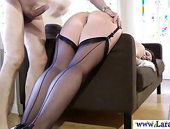 Bosomy euro mature milf gets her horny cunt drilled