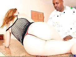 Big ass milf enjoys rough interracial anal
