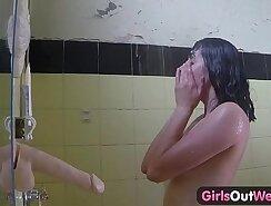 Candi Lockhart in the bathroom