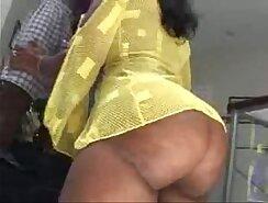 Big ass ebony rides hard erect penis