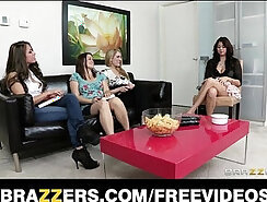 Sex starved wife is fucked hard by her lesbian GF with a strap