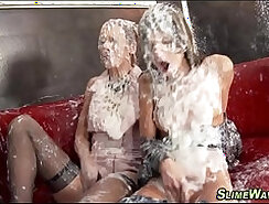 Alluring and fetish lesbians lick pussy and asses