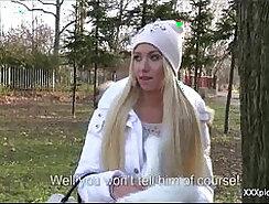 Beautiful Euro slut got penetrated in public