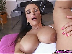 Cock hungry bitch Lisa Ann rides her lovers dick reverse