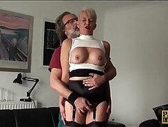 Blonde mature enjoying hard dick