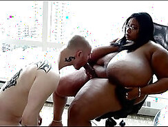 BBW Slave Slavewoman and Slides Cock In Some Swallows