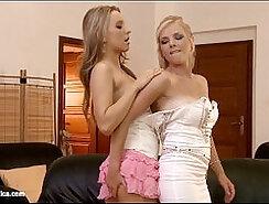 Beauty Lesbian Fingering Her Body