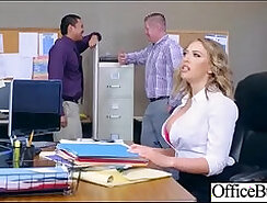 Busty lifeguard caught fucking in the office