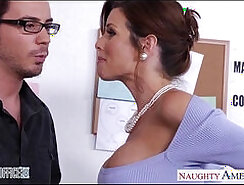 Ardent muscular shemales get penetrated by horny dude in the office