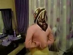 Arab Turkish girl with hijab turban being masturbated