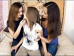 Excited threeway by sapphic erotica sensual lesbian sex scene with lidia and m