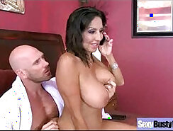 Busty housewife is so gratified by lucky dude